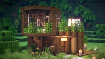 MINECRAFT : How to build a wooden modern house Minecraft Map & Project
