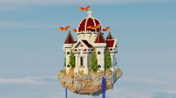 Small Sky Castle Server Spawn Minecraft Map & Project