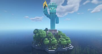 Villager Statue Of Liberty Minecraft Map & Project