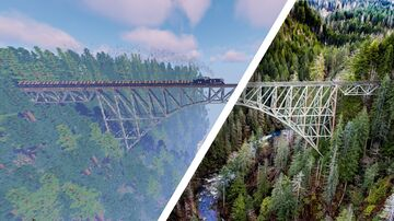Vance Creek Steel Bridge Minecraft Map & Project