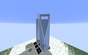 Shanghai World Financial Center - Shanghai, Shanghai, China. Minecraft Map & Project