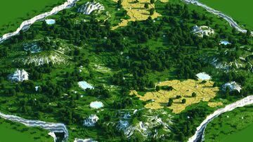 1000x1000 Custom Forest warzone Minecraft Map & Project