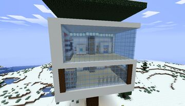 modern treehouse 1 Minecraft Map & Project