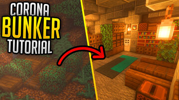 How to build a Coronabunker (Tutorial & Download) Minecraft Map & Project