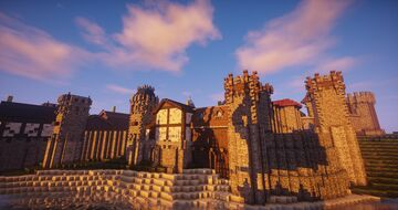 Medieval castle complex Minecraft Map & Project