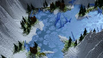 frozen lakes Minecraft Map & Project