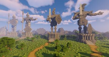 Ancient Greek Warrior Statues Minecraft Map & Project