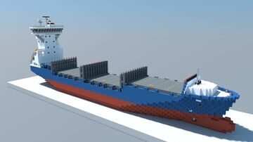 Lisa (1:1 Scale Container Ship) Minecraft Map & Project