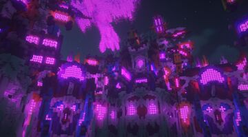 Cyberpunk City of Cybernetic Colour - An 'FBC' Contest Entry Minecraft Map & Project