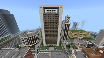 ICBC Tower in Puerto Madero, Buenos Aires, Argentina Minecraft Map & Project
