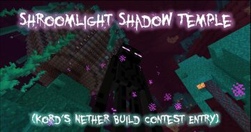 ☽ ✶ Shroomlight Shadow Temple ✶ ☾ Minecraft Map & Project