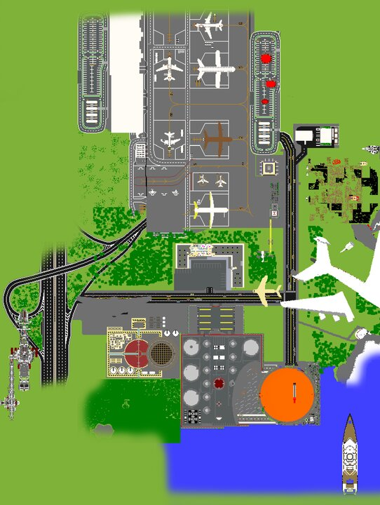 top view of the map