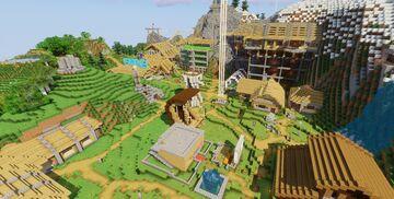 Hillside Village Survival server build (1.15.2) 2020 Update Minecraft Map & Project