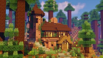 ✤ Cozy Cottage ✤   The Loft MC Minecraft Map & Project
