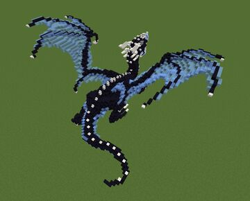New - Blue and Obsidian Dragon Minecraft Map & Project