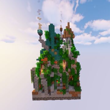 Pixie houses | One chunk build challenge Minecraft Map & Project
