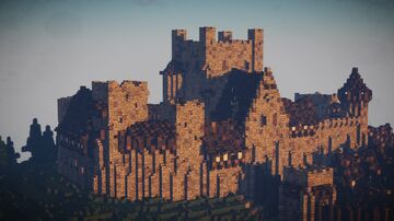 Medieval english-norman Castle Minecraft Map & Project