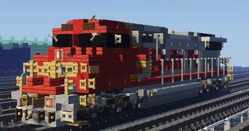 Atchinson, Topeka and Santa Fe Railway GE Dash 8-40CW (C40-8W) Diesel Locomotive Minecraft Map & Project