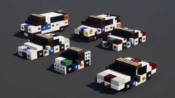 NYPD Police Car Pack (6) Minecraft Map & Project
