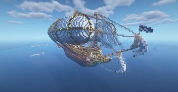 Big Airship with all villager professions Minecraft Map & Project