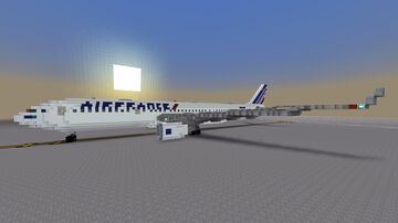 Air France Airbus A330-200 (Pray For Paris) Minecraft Map & Project