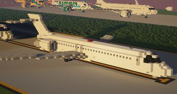 Boeing 717 1.5:1 Scale Minecraft Map & Project