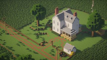 Farm House - Wisconsin (1:1 scale) Minecraft Map & Project