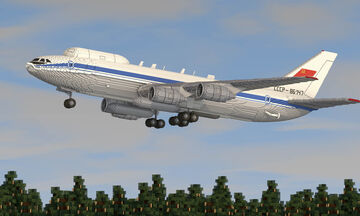 "IL-80 Aircraft ""Doomsday"" Air Command Post Minecraft Map & Project"