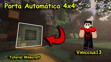 ✔Tutorial - Porta Automática 4x4 Viniccius13 - Minecraft - Sunny Ensina Minecraft Map & Project