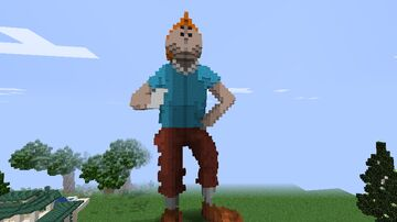 Tin Tin Statue (adventures of Tin Tin) Minecraft Map & Project