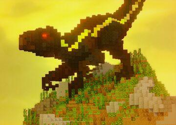 A dinosaur Indoraptor Minecraft Map & Project