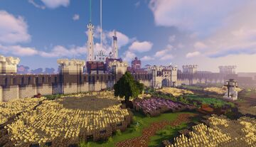 The city of Boarington, capital of the Western Empire Minecraft Map & Project
