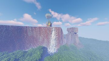"Paradise Falls from ""Up"" in Minecraft Minecraft Map & Project"