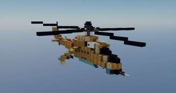 Mil Mi-24v 1.5:1 scale Minecraft Map & Project