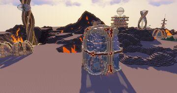 Minecraft Space Elevator & Port - Futuristic Base Design Minecraft Map & Project