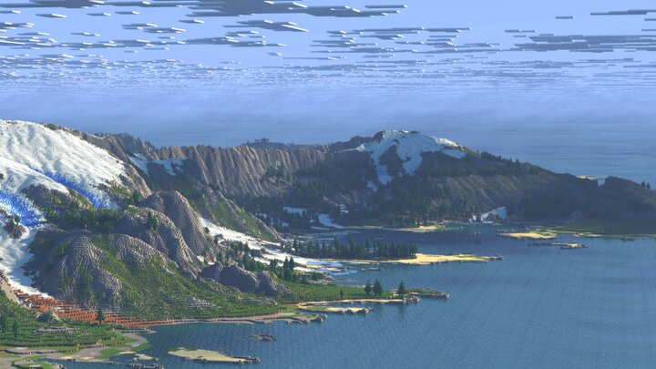 Popular Server Map : 🌍 Worcoast - a custom realistic  forest and mountain terrain [4K, JAVA, BEDROCK, Download]