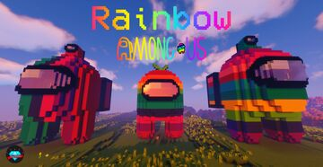 Minecraft Among Us Statue House Rainbown 🌈 Minecraft Map & Project