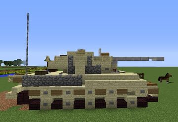 Tiger 2 Heavy Tank Minecraft Map & Project