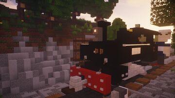 Baldwin 10-12D Locomotive (4:1 Scale) Minecraft Map & Project