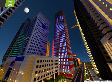 Minecrafteate at RTX, Nº2: Night city with neon lights. Minecraft Map & Project