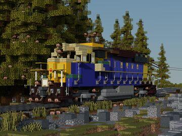 "EMD GP-40 locomotive ""Alaska Railroad"" Minecraft Map & Project"