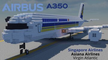 a350-800.900.1000 livery [1:1] Minecraft Map & Project