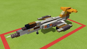 F-104 Starfighter 1.5-1 scale Minecraft Map & Project
