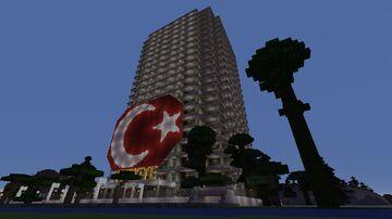 Turkey Guests Skyscraper Türkiye konuk Gökdeleni Minecraft Map & Project