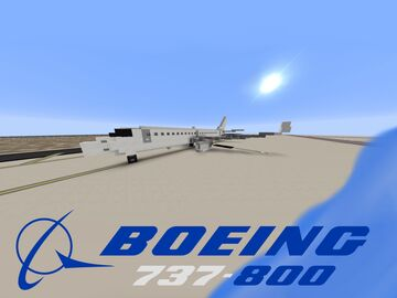 Boeing 737-800 [1:1 Scale] Minecraft Map & Project