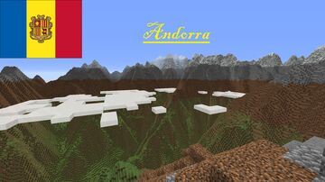 The Entire Nation of Andorra Minecraft Map & Project