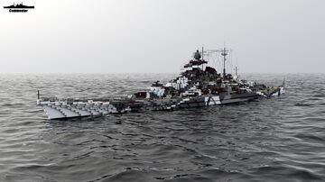 KMS Tirpitz 1:1 Scale Bismarck class Minecraft Map & Project