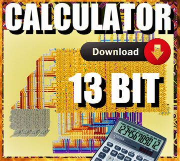 LARGE CALCULATOR - 13 BIT Minecraft Map & Project
