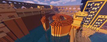 Carthaginian Cothon Harbor Minecraft Map & Project