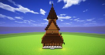 Urnes Stave Church (2:1 Scale) Minecraft Map & Project